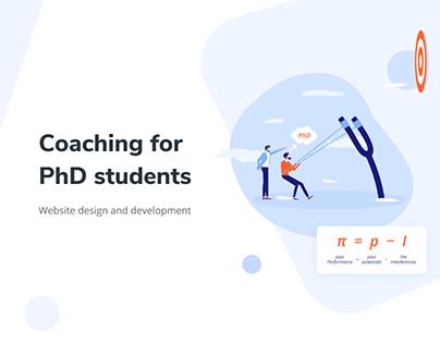 Coaching the PhD - Website design UI/UX