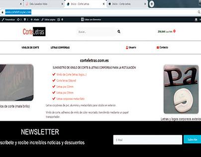 Tienda Online Woocomerce Corteletras.com.es