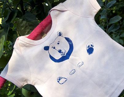 hand screen printed organic textiles