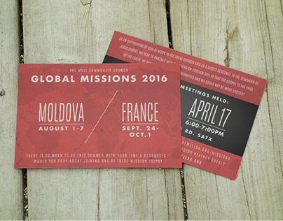 The Well Community Church - Global Missions Postcard