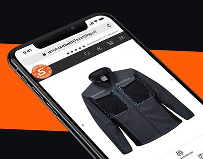 Unishore Workwear   Website, clothing editor