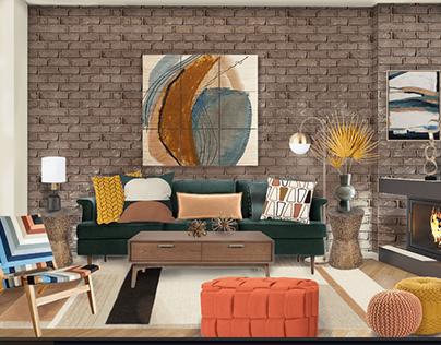 Living Room Project: Suburban Mid-Century Modern Den