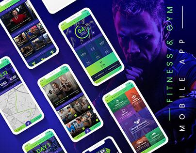Fitness & Gym Mobile App Screens