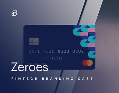ZEROES - fintech startup branding