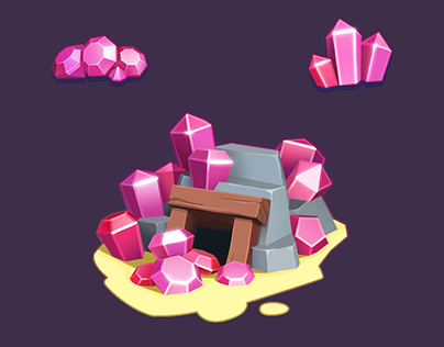 Gems Icons and Shop Sketches for Planet Gold Rush