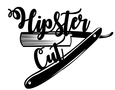 Hipster Cut Logo and Icons