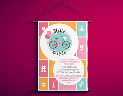 Branding and Graphic Materials - Ateliê das Festas