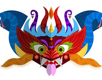 mascara de la tirana - estilo Sanjay Patel