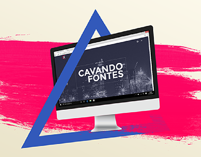 SOCIAL MEDIA // Cavando Fontes New Website