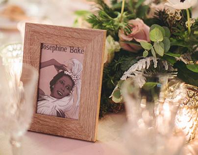 Josephine Baker - Illustration for Wedding Tables