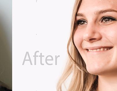Image editing | hair salon website