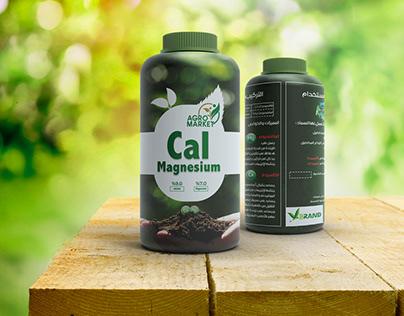 Sticker design for agricultural reinforcement bottle