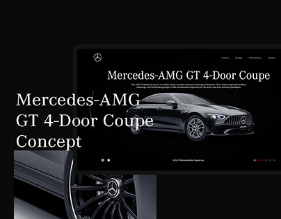 Mercedes-AMG GT 4-Door Coupe/Concept/UI/UX Design