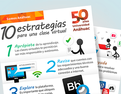 10 Strategies for a Virtual Class · Anáhuac's 50th ed.
