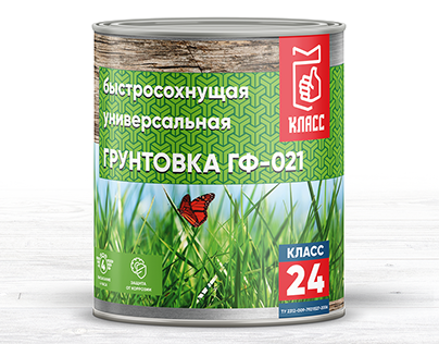"Label can design for alkyd enamels ""КЛАСС 24"""