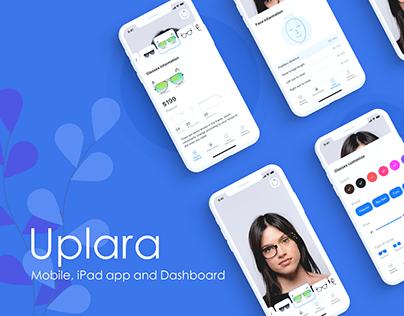 Uplara concept app - Mobile, iPad and Dashboard