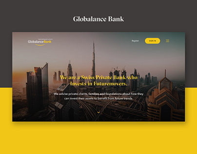 Swiss Bank website UI