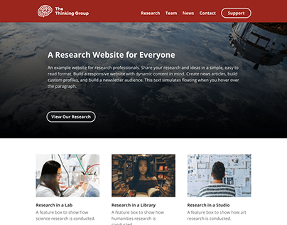 Research Website Template