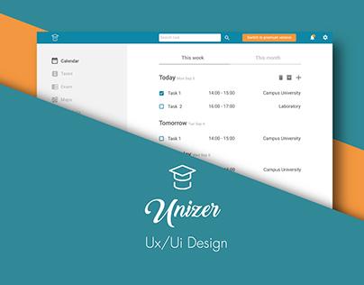 UNIZER UX/UI DESIGN // Management university app