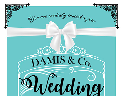Tiffany & Co Inspired Wedding Save the Date