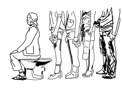 Urinary arrogance (Sketches for Exhibition Mural)