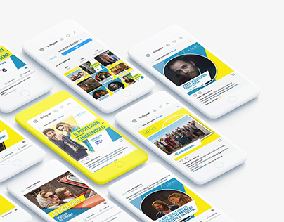 Lotus Production: social media graphic identity