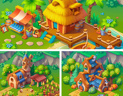 2D Houses in isometric