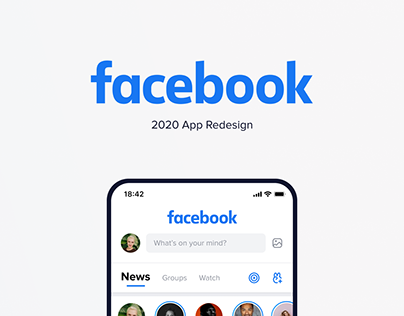 Facebook 2020 — Redesign mobile app