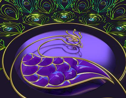 Peacock - Spline Art