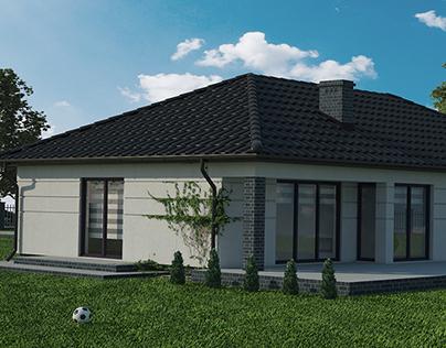 Wizualizacja 3d domu jednorodzinnego