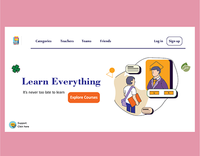 """Learn Anything"" Web Design - Landing Page - UI/UX"