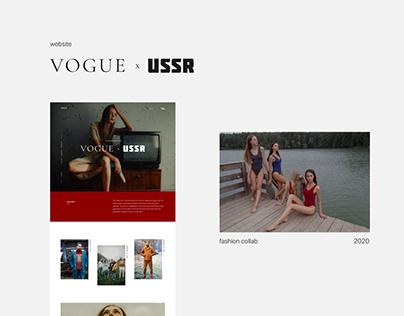 Vogue x USSR fashion website