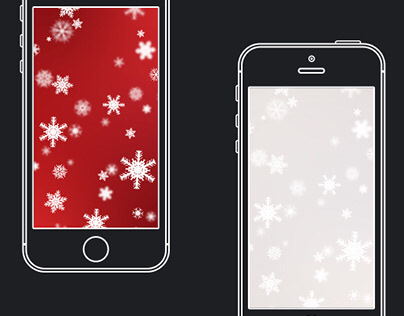 Festive Christmas Snowflakes Gradient Wallpaper