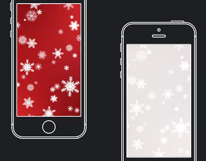 Festive Christmas Snowflakes Gradient Wallpaper