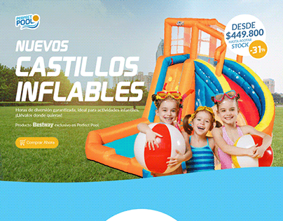 Inflatable Water Park Landing / Perfect Pool