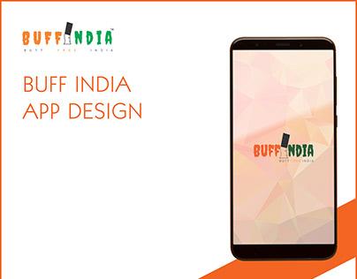 Buff India App design...