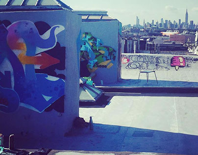 Brooklyn, NY: painting with the guys from the TFP crew