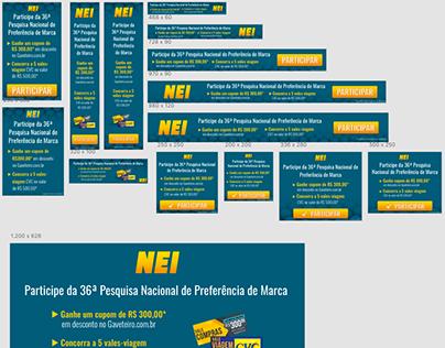 Remarketing para campanha do Grupo NEI