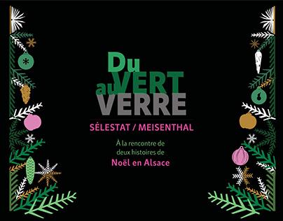 """Habillage d'exposition """"Du Vert Au Verre"""""""