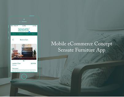 Mobile eCommerce Concept: Sensate App