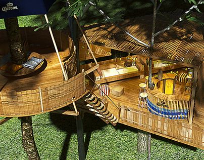 TREE HOUSE MADE BY CORONA