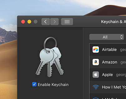 Apple Keychain Concept for macOS