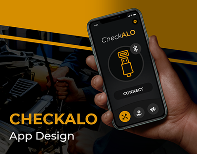 CheckALO Car Engine Scanning App Design