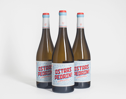 Ostras Pedrin. Wine Label