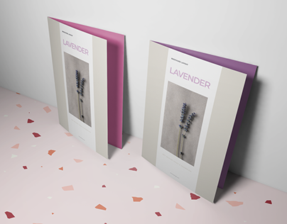 Lavender Brochure Layout