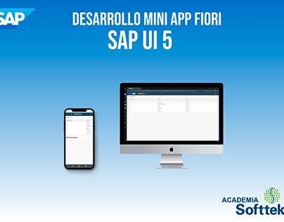 Desarrollo MiniApp Fiori - SAP UI5 - Academia Softtek
