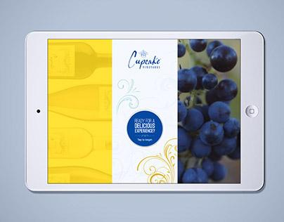 Cupcake Wines iPad Kiosk