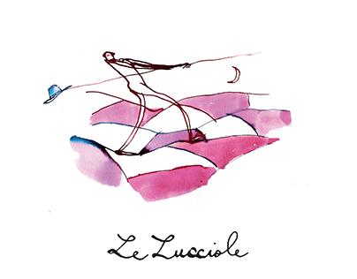 LE LUCCIOLE / Illustrated wine label
