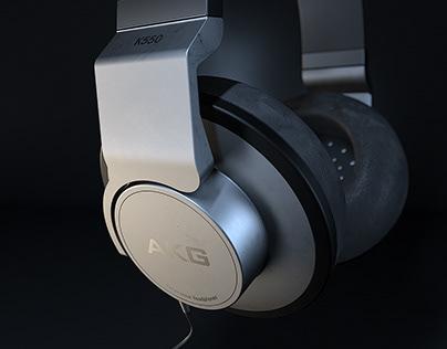 AKG耳机渲染