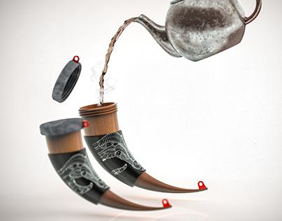 Horn shaped mug